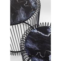 Журнальный столик Wire Marble Glass Black (2/Set)