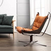 Кресло с оттоманкой Lounge Orange