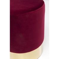 Пуф Cherry Bordeaux Brass  Ø35cm