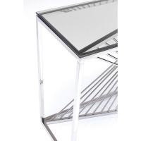 Консоль Laser Silver/Clear Glass 120x40cm