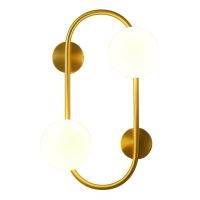 Бра LED Vertigo Gold/White H45