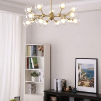 Люстра LED Passion 15P Gold/Clear D75