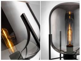Торшер Glass Oval Smoky Grey H155