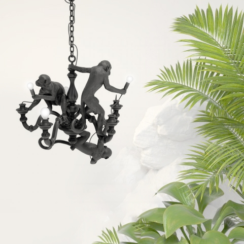 Люстра Monkeys Black D80