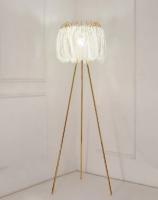 Торшер Pero White/Gold H162