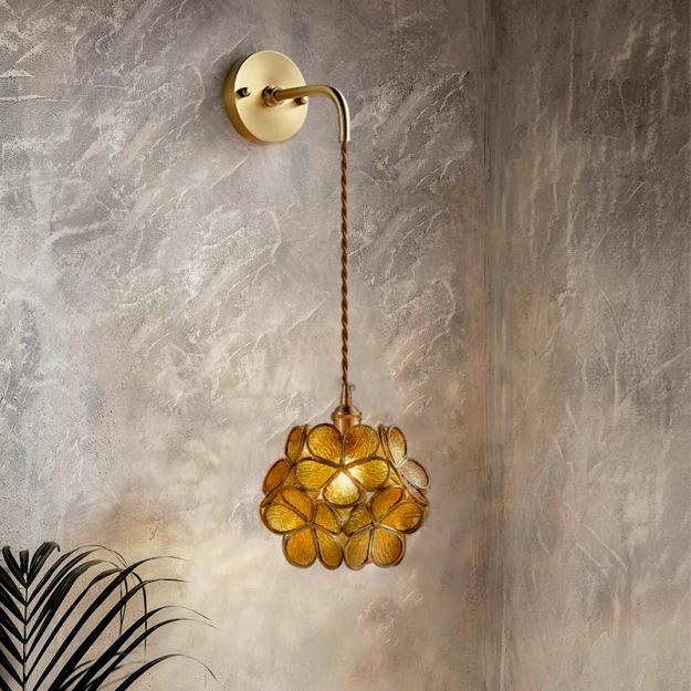 Бра Floret Amber/Gold H14/D16