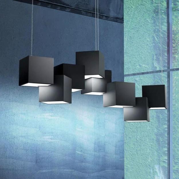Люстра LED Cubes Black/ White W65