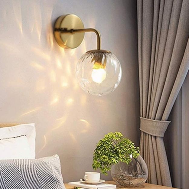 Бра LED Ball Gold/Clear D15