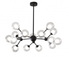 Люстра LED Spider Black 15P H72/D85