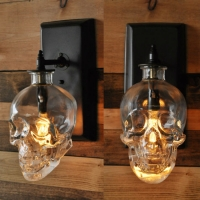 Бра Skull Clear/Black H21
