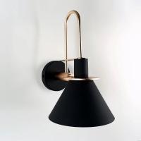Бра Bend Black/Gold H30/D18