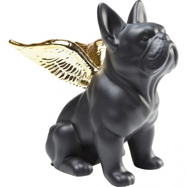 Статуэтка Sitting Angel Dog Gold-Black