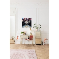 Картина стеклянная Glass Flower Art Lady 80x80cm