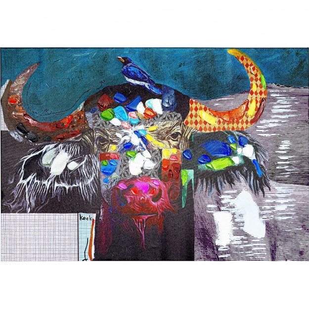 Картина Touched Wildlife Buffalo 70x100cm
