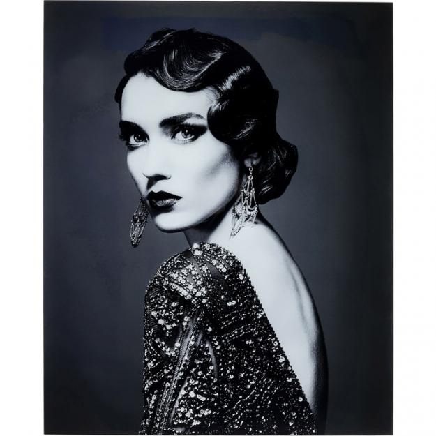 Картина стеклянная Beauty Lady 150x120cm
