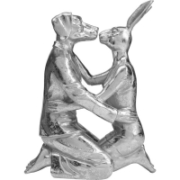 Статуэтка Kissing Rabitt and Dog Silver