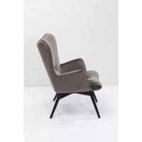 Кресло Black Vicky Velvet Grey