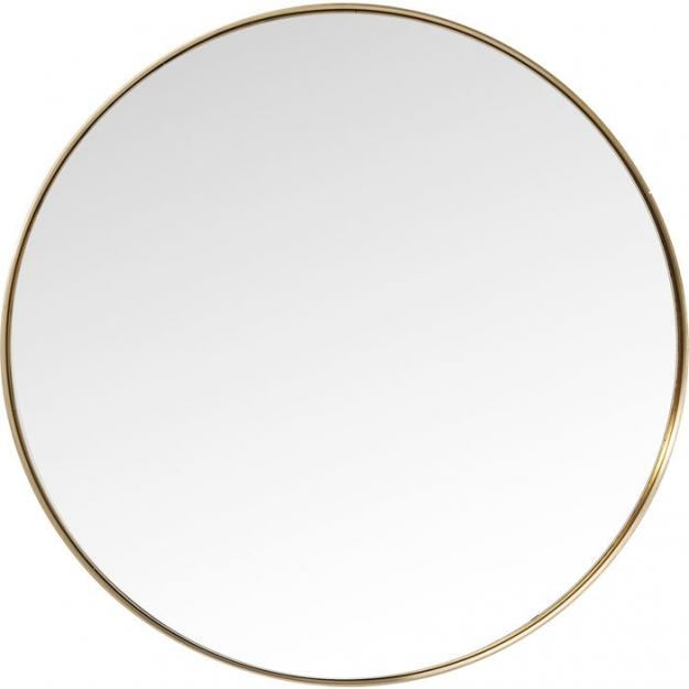 Зеркало Curve Round Brass Ø100cm (Ожидаемый товар)
