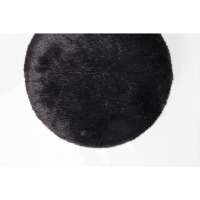 Пуф Cherry Fur Black Brass Ø35cm