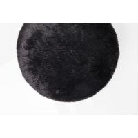 Пуф Cherry Fur Black Brass Ø35cm