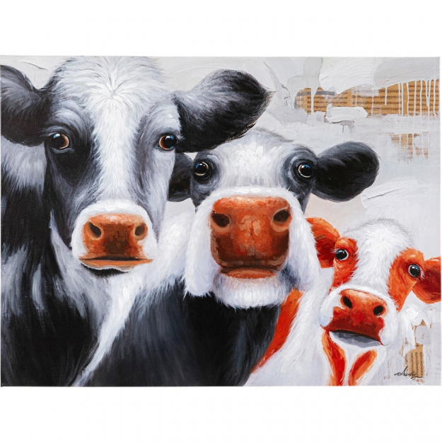 Картина Touched Snoopy Cows 120x90сm