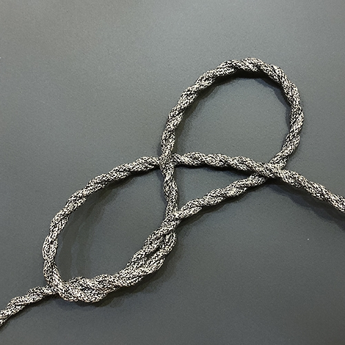 Провод витой в тканевой оплетке Black/Grey