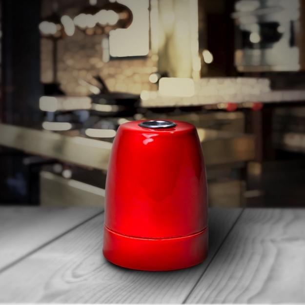 Патрон электрический керамика Red