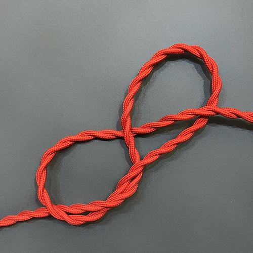 Провод витой в тканевой оплетке Red