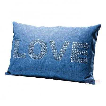 Cushion Love Studs Blue 40x60cm