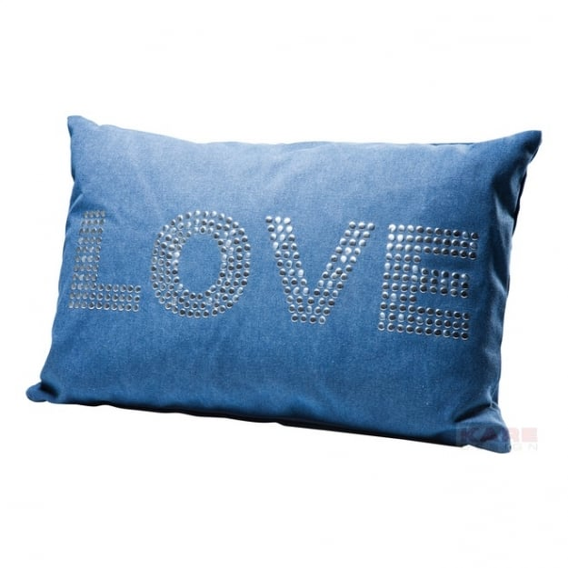 Cushion Love Studs Blue 40x60cm