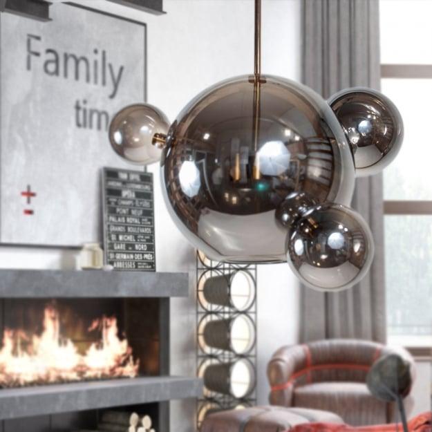Подвесной светильник Bubbles Smoky Grey 3+1 1шт