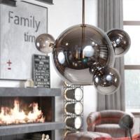 Подвес LED Bubbles 3+1 Smoky Grey H50/D53