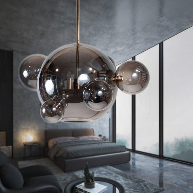 Подвесной светильник Bubbles Smoky Grey 5+1 1шт