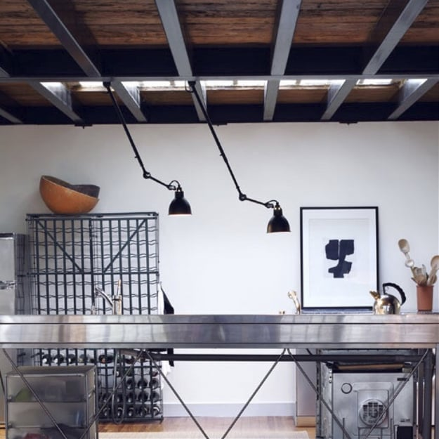 Светильник потолочный на шарнире Black d14,5 h130см