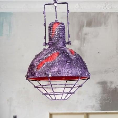 Светильник потолочный Bathyscaphe purple d-30см