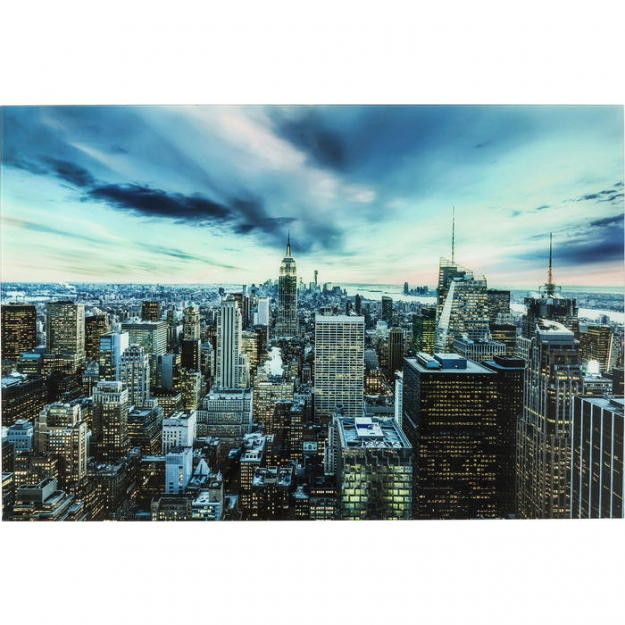 Картина Glass New York Sunset 160x120cm