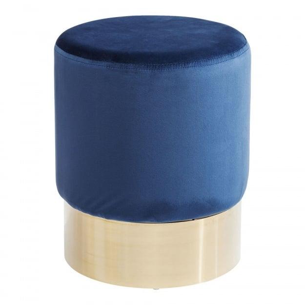 Пуф Cherry Blue Brass Ø35cm