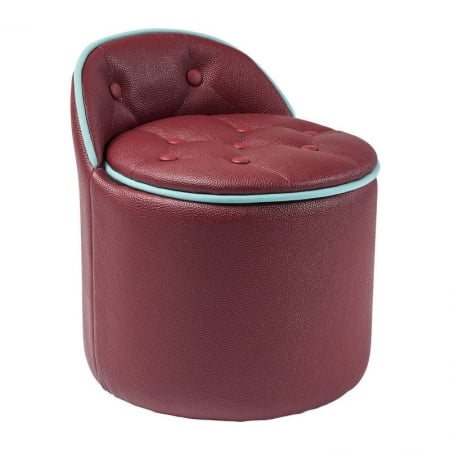Stool Buttone Storage Red