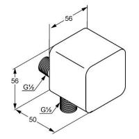 Соединение для шланга Kludi A-QA