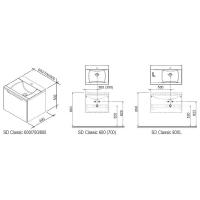 Комплект мебели Ravak Classic 800 (R)