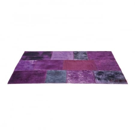 Carpet Patchwork Velvet Purple 170x240