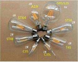 Лампа Эдисона LED G95 4W 1800K