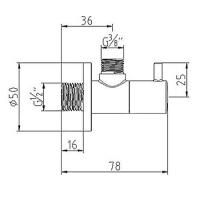 Угловой вентиль KLUDI DN15