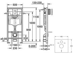 Инсталяция GROHE Rapid SL 3 в 1 38772001