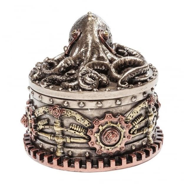 Шкатулка Steampunk Octopus Round