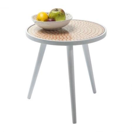 Side Table Teatime Orange Ø40cm