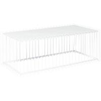 Журнальный столик Wire Rectangular White 115x57cm