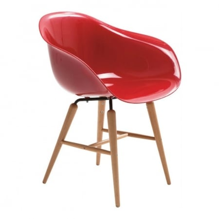 Chair with Armrest Forum Wood Red