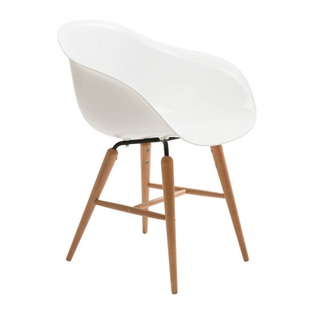 Стул with Armrest Forum Wood White