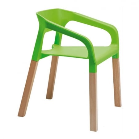 Chair with Armrest Rack green